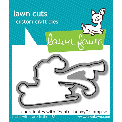 Lawn Fawn WINTER BUNNY Lawn Cuts Dies LF581 Preview Image