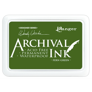 Ranger Wendy Vecchi Archival FERN GREEN Ink Pad AID38962