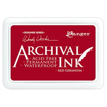 Ranger Wendy Vecchi Archival RED GERANIUM Ink Pad AID38993