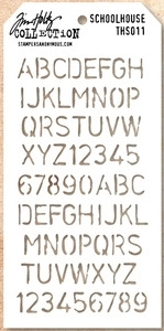 Tim Holtz Layering Stencil SCHOOLHOUSE THS011 Preview Image