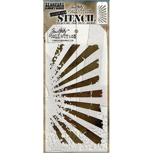 Tim Holtz Layering Stencil RAYS THS003 Preview Image