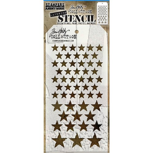 Tim Holtz Layering Stencil STARS THS008 Preview Image