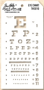 Tim Holtz Layering Stencil EYE CHART THS010 Preview Image