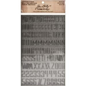 Tim Holtz Idea-ology DECO TYPE Industrious Stickers TH93090 zoom image