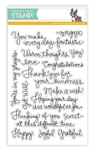 Simon Says Clear Stamps HANDWRITTEN GREETINGS SSS101349 *