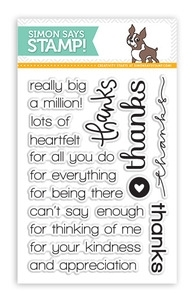 Simon Says Clear Stamps THANKS SSS101347 zoom image
