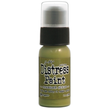 Tim Holtz Distress Paint CRUSHED OLIVE Ranger TDD38504