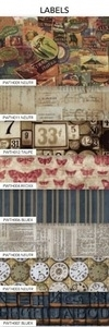 Tim Holtz Fabric Eclectic Elements 14740 LABELS 8PC FAT QUARTER