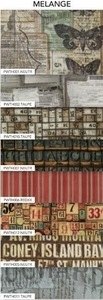 Tim Holtz Fabric Eclectic Elements 14753 MELANGE 8PC CHARM PACK Preview Image