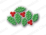 Impression Obsession Steel Dies HOLLY LEAF CLUSTER DIE098-A