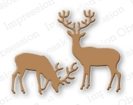 Impression Obsession Steel Dies SMALL DEER DIE117-C