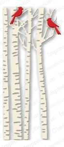 Impression Obsession Steel Dies BIRCH TREES DIE079-U*
