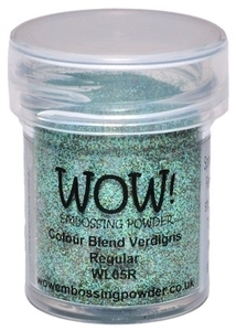 WOW Embossing Powder COLOR BLEND VERDIGRIS Regular WL05R