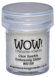 WOW Embossing Glitter CLEAR SPARKLE Regular WS15R