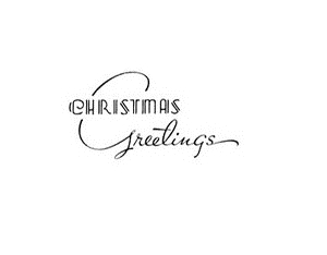 Tim Holtz Rubber Stamp DECO CHRISTMAS GREETINGS K5-2210* Preview Image