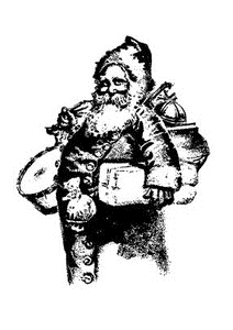 Tim Holtz Rubber Stamp OLD FASHIONED SANTA Stampers Anonymous U1-2206