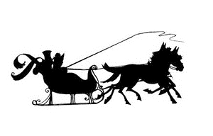 Tim Holtz Rubber Stamp DECO SLEIGH RIDE Stampers Anonymous P2-2211