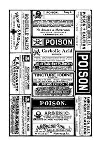 Tim Holtz Rubber Stamp POISON LABELS X1-2187* Preview Image