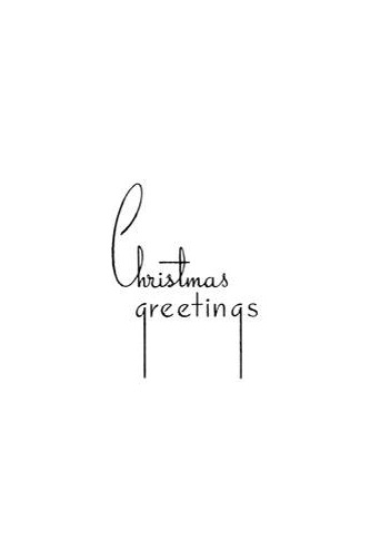 Tim Holtz Rubber Stamp CHRISTMAS GREETINGS 2 K5-2209* zoom image