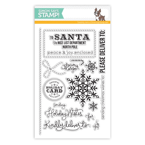 Simon Says Clear Stamps HOLIDAY ENVELOPE SENTIMENTS SSS101352 Preview Image