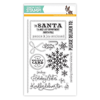 Simon Says Clear Stamps HOLIDAY ENVELOPE SENTIMENTS SSS101352