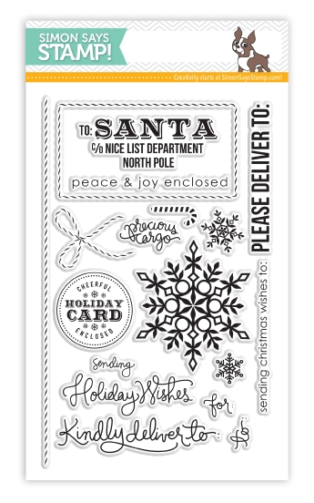 Simon Says Clear Stamps HOLIDAY ENVELOPE SENTIMENTS SSS101352 zoom image
