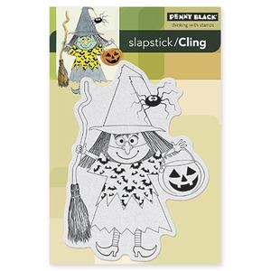 Penny Black Cling Stamp WITCH MASQUERADE Rubber Unmounted 40-244* zoom image