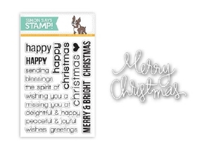 Simon Says Stamps And Dies CHRISTMAS SENTIMENTS SetCS36