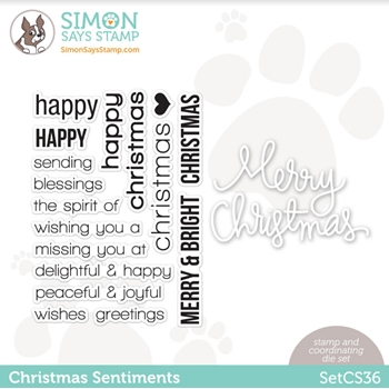 Simon Says Stamps and Dies CHRISTMAS SENTIMENTS SetCS36 *