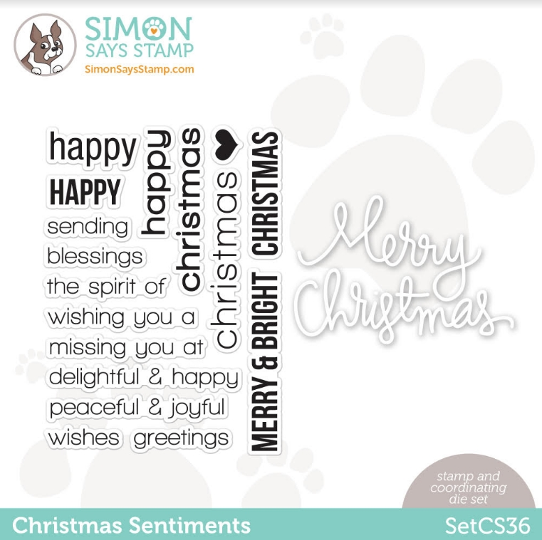 Simon Says Stamps and Dies CHRISTMAS SENTIMENTS SetCS36 * zoom image