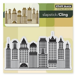 Penny Black Cling Stamp SKYLINE Rubber Unmounted 40-246 zoom image