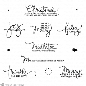 Mama Elephant Clear Stamps MERRY GREETINGS Preview Image