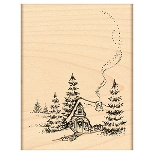 Penny Black Rubber Stamp CHRISTMAS COTTAGE 4364H Preview Image
