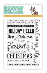 Simon Says Clear Stamps HOLIDAY HELLOS SSS101365