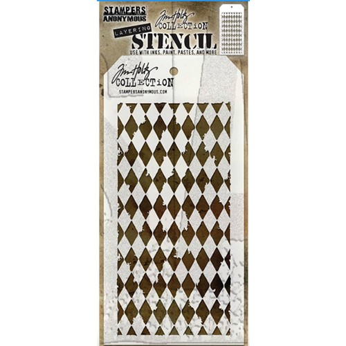 Tim Holtz Layering Stencil HARLEQUIN THS016 Preview Image
