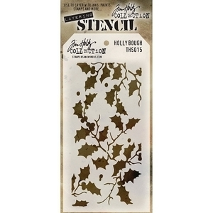 Tim Holtz Layering Stencil HOLLY BOUGH THS015