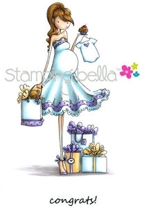 Stamping Bella Cling Stamp UPTOWN GIRL BRYNN HAS A BABY SHOWER Rubber UM EB247 Preview Image