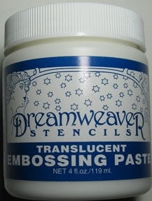 Dreamweaver TRANSLUCENT Embossing Paste 4oz DWDEPT