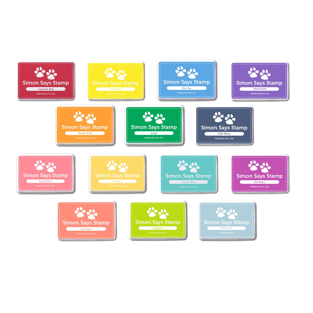 Simon Says Stamp Premium Dye INK PADS Set RAINBOW INKRB14 zoom image