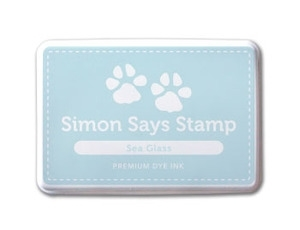 Simon Says Stamp Premium Dye Ink Pad SEA GLASS Blue ink004 Preview Image