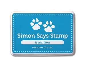 Simon Says Stamp Premium Dye Ink Pad ISLAND BLUE ink012 zoom image