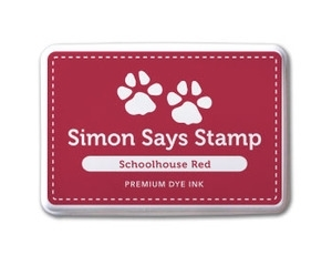 Simon Says Stamp Premium Dye Ink Pad SCHOOLHOUSE RED ink001 Preview Image
