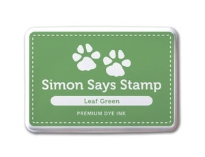 Simon Says Stamp Premium Dye Ink Pad GREEN LEAF  ink011