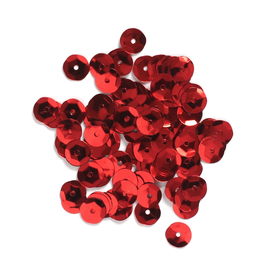 Darice 8MM RED Sequins 10044-30 zoom image