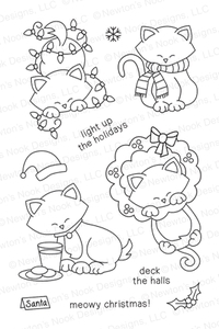 Newton's Nook Designs NEWTON'S HOLIDAY MISCHIEF Clear Stamp Set 20131001* zoom image