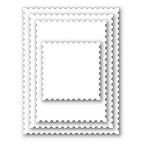 Simon Says Stamp POSTAGE STAMP EDGE FRAMES Wafer Dies SSSD111330 zoom image