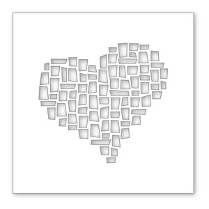Simon Says Stamp Stencil MOSAIC HEART SSST121327 zoom image