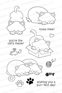 Newton's Nook Designs NEWTONS ANTICS Clear Stamp Set 20130701 Preview Image