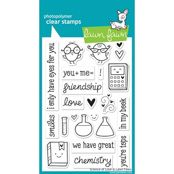 Lawn Fawn SCIENCE OF LOVE Clear Stamps LF597*
