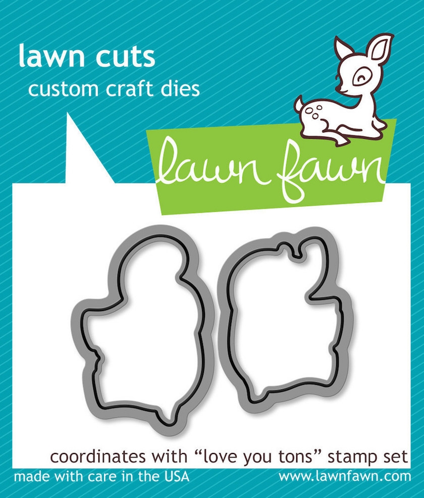 Lawn Fawn LOVE YOU TONS Lawn Cuts Dies LF600 zoom image